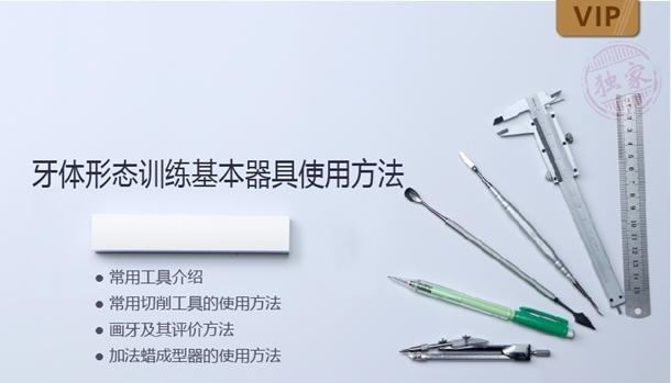 图片 牙体形态训练基本器具使用方法