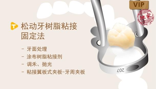 图片 松动牙树脂粘接固定法